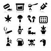 stock photo of crack addiction  - Drugs Icons - JPG
