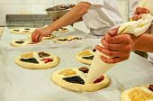 pic of bakeshop  - Picture of a production process of Czech traditional pies - JPG