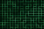 Green Glowing Grid Lines