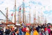 STAVANGER - JULY 28: People at Stavanger The Tall Races competition on July 28, 2011 in Stavanger, Norway. Teams of many ships from 13 countries competed with each other.