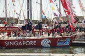 OCEAN VILLAGE, SOUTHAMPTON UK - JULY 22: Clipper Round the World Yacht Race third placed Keppel Bay