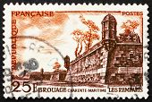 Postage stamp France 1955 Fortifications, Brouage, France