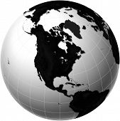 Globe With North America View