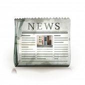 Jornal, estilo antigo vetor isolado