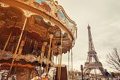 Retro Carousel In Paris