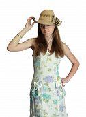 Girl In A Dress For Summer Wear