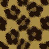 stock photo of ocelot  - A leopard print texture that tiles seamlessly as a pattern in any direction - JPG