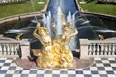 Grand Cascade In Peterhof