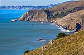 California Coastline In Tamalpais State Park, Marin County