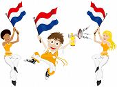 Netherlands Sport Fan With Flag And Horn