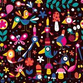Постер, плакат: Птицы шаблон