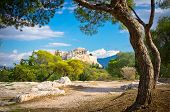 pic of ancient civilization  - Beautiful view of ancient Acropolis Athens Greece - JPG
