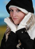 Cute Woman Wearing Winter Clothes