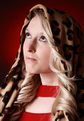 Beautiful Blond Woman With Scarf