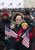 Children At Inaugural Celebration At Washington Monument