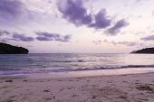 Beautiful Beach Coastline  During Sunset