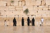 The Jerusalem wailing wall