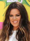LOS ANGELES - MARCH 23:  Khloe Kardashian arrives to the Kid's Choice Awards 2013  on March 23, 2013
