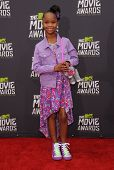 LOS ANGELES - APR 14:  Quvenzhane Wallis arrives to the Mtv Movie Awards 2013  on April 14, 2013 in