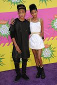 LOS ANGELES - MARCH 23:  Jaden Smith & Willow Smith arrives to the Kid's Choice Awards 2013  on Marc