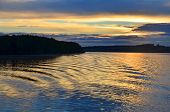 Beautiful Water At Sunset On River Volga