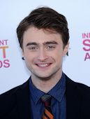 LOS ANGELES - FEB 23:  Daniel Radcliffe arrives to the Film Independent Spirit Awards 2013  on Febru