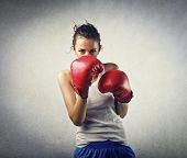 boxeador joven