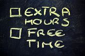 Doubts: Choice Between Work And Free Time