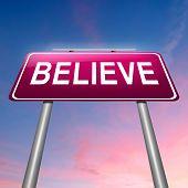 Concepto de creer.