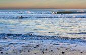 Ocean Beach perto de Bolinas, região Central da Califórnia