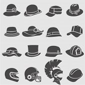 foto of spartan  - Hat icons set - JPG