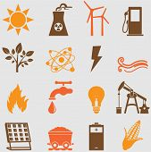 Energy icons set.Vector