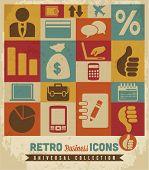 Los iconos de negocio conjunto: vector
