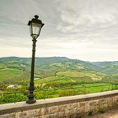 Chianti Region, Lampe und ländliche Landschaft. Radda, Toskana, Italien