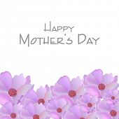 Happy Mother's Day background with flowers.