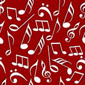 Abstract seamless pattern with music notes.