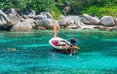 Taxi Boat In The Tropical  Sea