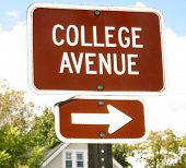 College Avenue Road Sign