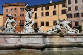 The Basin Part Of The Fontana Del Nettuno Was Designed In 1574 By Giacomo Della Porta And Was Comple