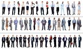 image of mature adult  - collection of full length portraits of business people - JPG