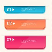 Set of bookmarks, stickers, labels, tags. Numbered banners. Vector template for infographics
