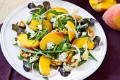 Peach With Blue Cheese And Rocket Salad