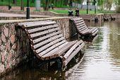 Flood Waters In Park
