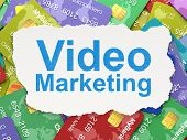 Finance concept: Video Marketing on Credit Card background