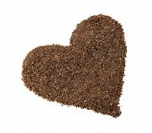 Chocolate Chips Placer In The Shape Of Heart