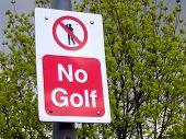No Golf Sign