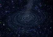 Starry Sky And Black Hole