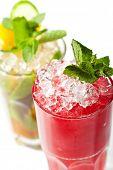 Raspberries Collins Cocktail