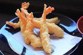 Delicious Tempura (deep Fried Prawn)