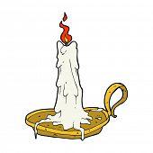 cartoon spooky dribbling candle